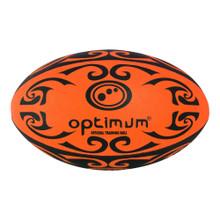 Optimum Tribal Rugby Training Ball - Orange/Black