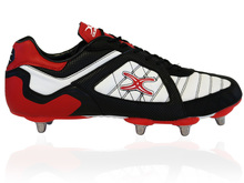 Gilbert Rugby Blitz 8 Stud Boot (Black/White)