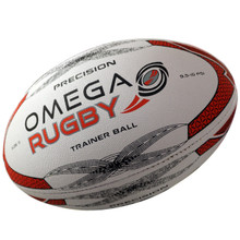 Omega Rugby Precision High Quality Training Ball - Red/Black/White