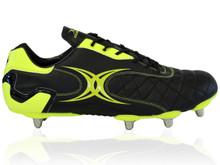 Gilbert Sidestep Revolution 8 Stud Rugby Boot - Black/Green