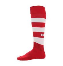 BLK TEK Rugby Socks - Red/White