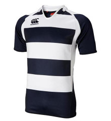 Canterbury Hooped Challenge Rugby Jersey - Navy/White