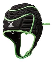 Gilbert Evolution Rugby Scrum Cap - Black/Green