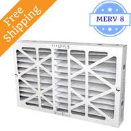 16x20x6 Z-Line HV Pleated Air Filters MERV 10 - Glasfloss