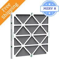 24x24x1 Air Filter with Odor Reduction MERV 8 by Glasfloss