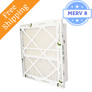 24x24x4 Z-Line HWR Pleated Return Grille Filters MERV 8 - Glasfloss