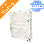 14x25x4 Z-Line HWR Pleated Return Grille Filters MERV 11 - Glasfloss