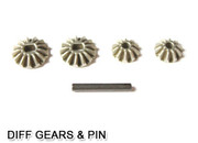 HSP RC CAR PARTS  02066 Diff. Pinions + Bevel Gears + Pin