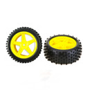 HSP RC CAR PARTS 06026 Yellow Rear Wheel Set ( A pair)  ( for 94106/ 94166/ 94107)