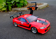 RED CAT /BSD BS208T RC Pro Drift car, Carbon Fiber / Brushless / LED light  version RTR