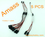 AMASS 30cm 22AWG Futaba Y leads, flat wire AM-3001-5 (5pcs/bag)