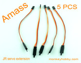 AMASS 15cm 22# JR extension wire, female with hook AM-2002H-1 (5pcs/bag)