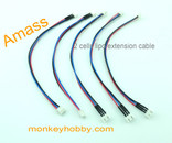 Amass 20cm 22# XH extension connector wire AM-1203-2S (5pcs/bag)
