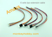 Amass 20cm 22# XH extension leads wire AM-1203-5S (5pcs/bag)