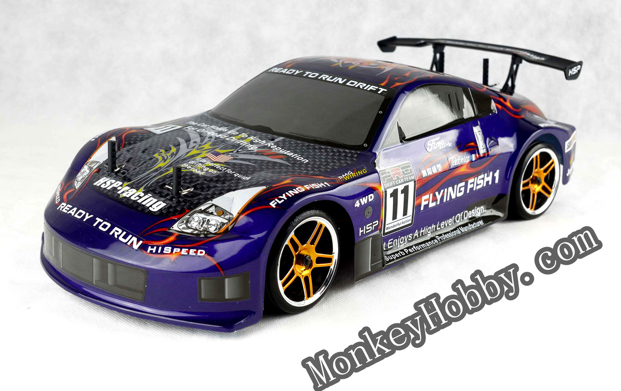 Hsp 94123 12309 Purple 24ghz Flying Fish Electric Drift Road 1 10 Rc Car Image