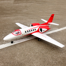 Dynam new Red Cessna 550 Turbo Jet Radio Control Airplane 5 Channel 2.4Ghz PNP RC Airplane