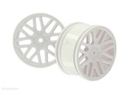HSP RC CAR PARTS 06102 White Rear/Front Wheel Rims 2pcs 1/10 Scale For Electric Monster Truck