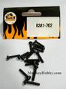 DHK RC CAR PARTS 8381-702 B head screw coarse thread (BB3*14mm) (16 pcs)
