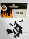DHK RC CAR PARTS 8381-605 B head screw coarse thread (BB3*12mm) (16 pcs)