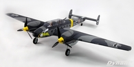 Dynam Messerschmitt BF-110 1500mm V3 w/ flaps retracts RC Warbird RC Airplane, PNP