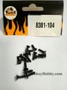 DHK RC CAR PARTS 8381-104 Flathead screw coarse thread (KB2.6*10mm) (16 pcs)