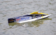HYDRO STYLE 650EP F1  620mm Green RACING BOAT With OUTBOARD, BRUSHLESS MOTOR, ESC and servo build-ed in, PNP version