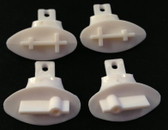 FMS Parts wing support bar holding mount ( 4 pcs, white plastic)