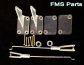 FMS Parts 1400mm cessna 182 flap/ airron control rob and clip pack