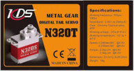 KDS Rudder Metal Digital Servo N320T For CHASE 360 And 450 LEVEL RC helicopters