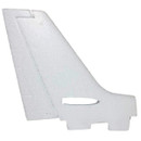 Dynam Cessna 550 Turbo Jet Vertical stabilizer (white) RC PLANE PARTS