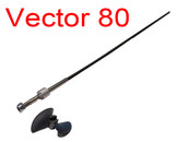 Volantex P7980110 Racent 798-1 Vector 80 and 798-4 Vector SR80 L387mm, φ3 Propeller shaft +nut (with propeller)