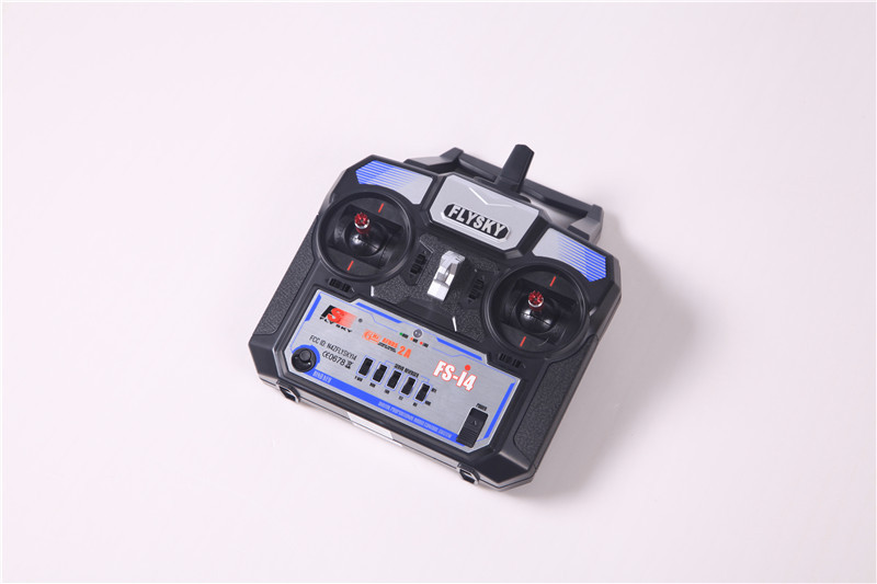 Flysky FS-i4 AFHDS 2A 2 4GHz 4CH Radio System Transmitter for RC Helicopter  Glider with FS-A6 Receiver (Mode 2)