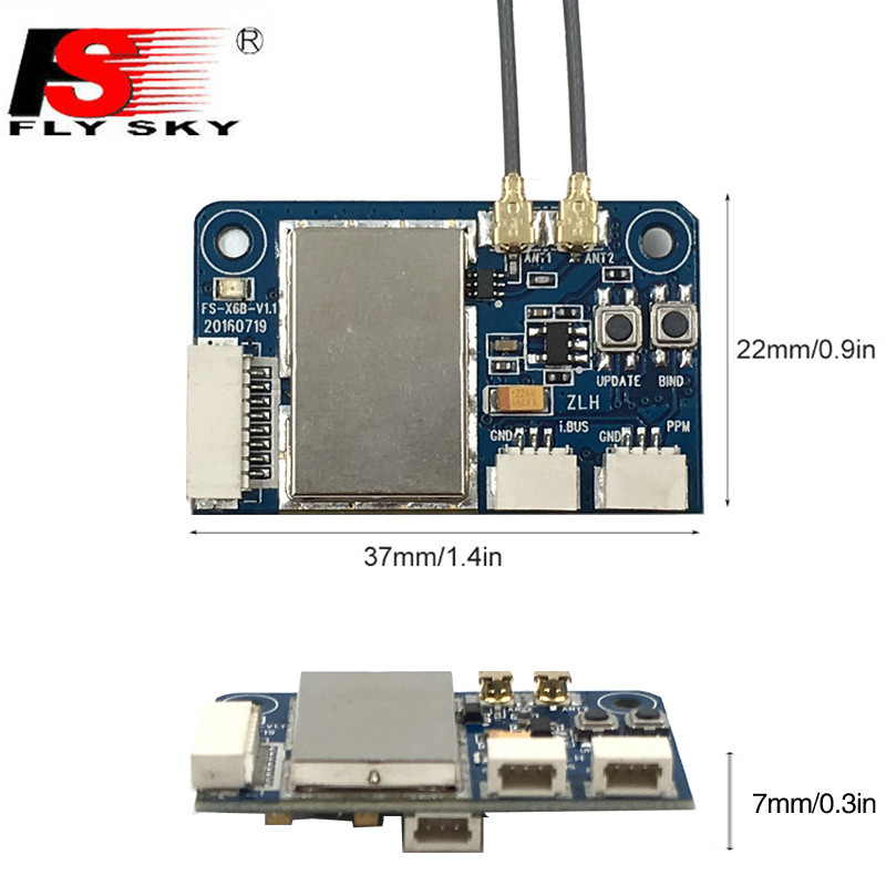 Flysky FS X6B 2.4G 6CH i-BUS PPM PWM Receiver for AFHDS i10 i6s i6 on