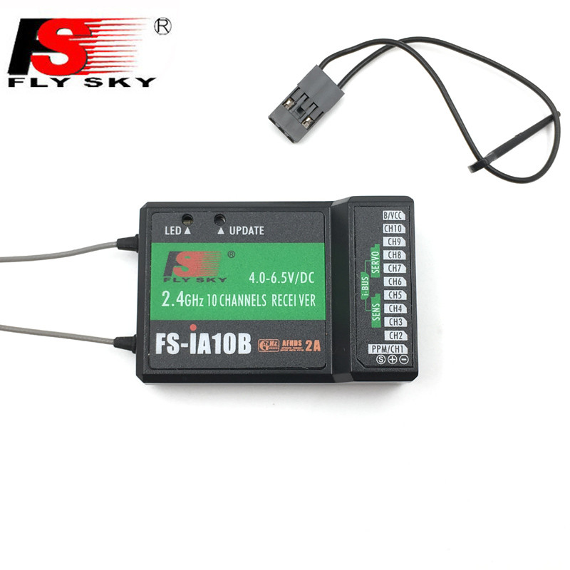 Flysky FS-IA10B 2.4G 10 Channel Receiver PPM Output and iBus Port Suitable for RC Helicopter