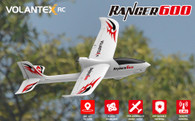 Volantex RC Ranger 600 RTF 761-2 RC Plane,  W / 6-axis gyro stabilizer system and 2.4GHz  4-Channels Radio- Two batteries