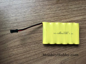 Huina 1350 / 1550 / 1560 / 1570 / 1571 / 1577 RC Excavator Spare Parts 7.2V 400mAh Ni-CD Battery with SM Plug
