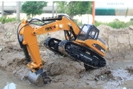 HUINA 1580 580 1:14 23Ch RC FULL ALLOY RC Excavator Big Rc Trucks Newest Version Full Metal Remote Control Excavator
