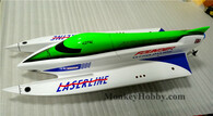 Dragon Hobby LASERLINE 700EP Yellow F1 High Speed Racing Speed Boat Flex-Internal 45° Drive W/ ESC 60A W / Self Righting Function RC Boat