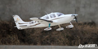Dynam SR22 White 1400mm Wingspan RC Scales Plane DY8936