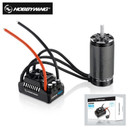 HobbyWing 56113 SL 800KV sensorless brushless 4-pole motor with EzRun MAX5 V3 200A brushless waterproof ESC combo for 1/5 RC cars
