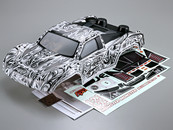 Killerbody 1/10 Short Course Truck  MONSTER  Body Shell  Tattoo graphics (Printed) 48165 Can be used with Traxxas/HPI/ AE