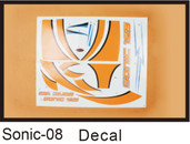 Dynam Dy8929 sonic 185 1850mm glider SONIC 185  DECAL RC Plane parts