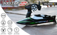 Volantex Vector S 797-4 45cm Brushless RTR RC Boat For Kids And Adults High-Speed Remote Control Boat With Self-Righting & Reverse Function