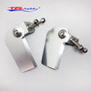TFL 1Pair CNC Aluminum Turn Fin 30x55mm 30x47mm Left and Right for RC Boat Marine
