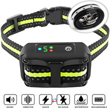 Authen Bark Collar Barking Control Training Collar with Beep Vibration and No Harm