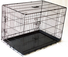 "Collapsable Double Door Dog Crate Extra Large 42""(L)X28'(W)X""31""(H)"