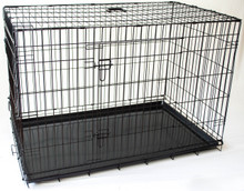 "Collapsable Double Door Dog Crate Jumbo Size 48""(L)X30""(W)X33""(H)"