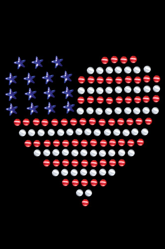 """Patriotic Heart # 1 dog tutu for large and small dogs. 2.5"""" X 2.5"""" red, silver, & blue nailheads."""