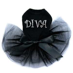 Diva - Silver Rhinestuds tutu for large and small dogs.