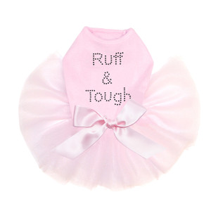 Ruff & Tough rhinestone dog tutu for large and small dogs.